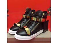 giuseppe zanotti double gold sneaker original quality brand new no adidas nike yeezy