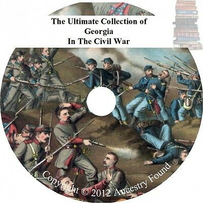 Georgia in the Civil War - History & Genealogy - 21 books on DVD