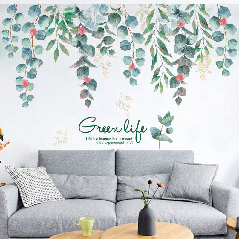 Home Decoration - Removable Wall Stickers Nursery Green Leaves Foliage Home Decor Vinyl Mural AU