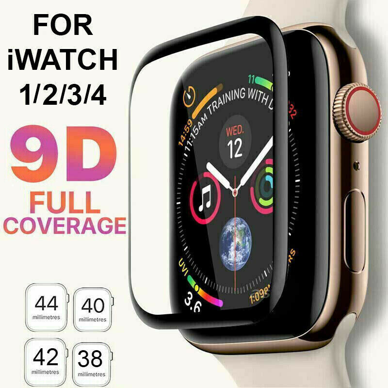9D Tempered Glass Screen Protector For iWatch Apple Watch 4/3/2/1 38 42 40 44mm Cell Phone Accessories