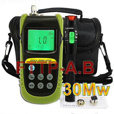 New Fiber Optical Power Meter 25-30km 30mw Visual Fault Locator Cable Tester Kit