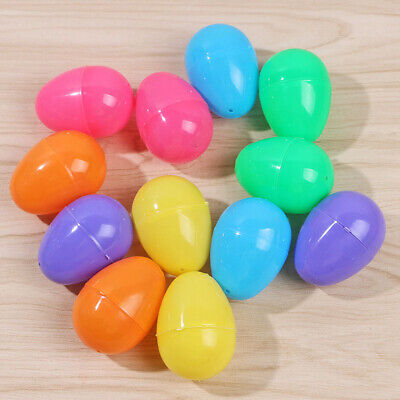 12pcs Hunt Holiday Easter Halloween PVC Plastic Eggs Bright DIY Decor Favo - Halloween Easter Eggs