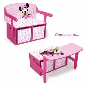 Minnie Mouse convertible desk/bench