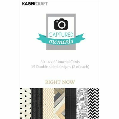 """Kaisercraft Journaling Cards Captured Moments Pocket Page 4""""x6"""" - Right Now"""