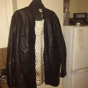 Bomber Style Leather Jacket - Brown perfect Condition OBO