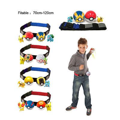 Pokemon Clip and Carry Poke Ball Toys Cross Belt Game Kids Gift Christmas