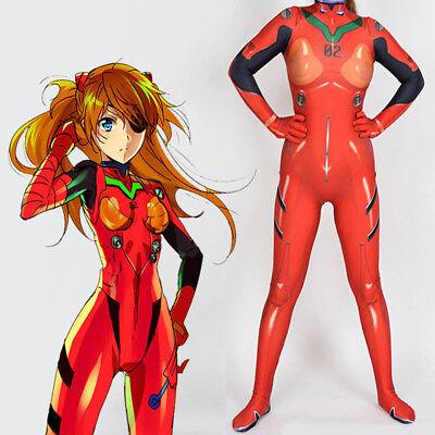 EVA Neon Genesis Evangelion Asuka Langley Cosplay Zentai Bodysuit Jumpsuits