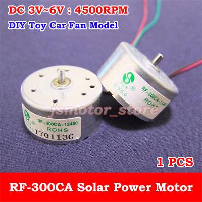 Dc 3v 5v 6v 4500rpm Micro Mini Rf-300ca Solar Power Motor Small Round Toy Motor