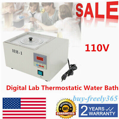 110v Digital Lab Thermostatic Water Bath Single Hole Electric Heating Rt-100 Us