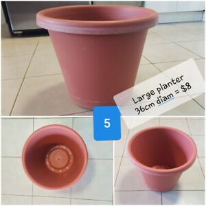Large planters, stakes and other