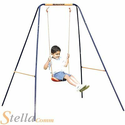 Hedstrom Deluxe 2 In 1 Kids Garden Swing Set Adjustable For Toddler & Children