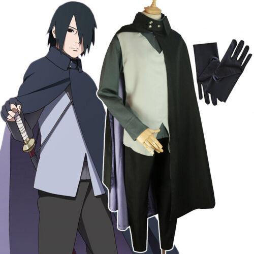 Cosplay Anime Naruto Boruto Uchiha Sasuke Halloween Costume Uniform Suit Set