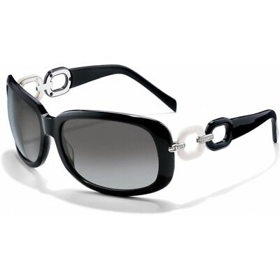 NWT Brighton EXPRESS YOURSELF Black Sunglasses Black & White Rings  MSRP (Brighton Sunglasses)