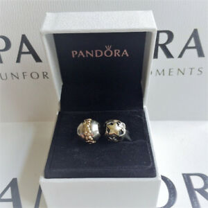 Authentic Pandora Retired Saturn Flower and Golden Star Charms