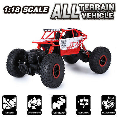 HB-P1801 2.4GHz 4WD 1/18 Scale 4x4 Rock Crawler Off-road Vehicle RC Car Truck HM