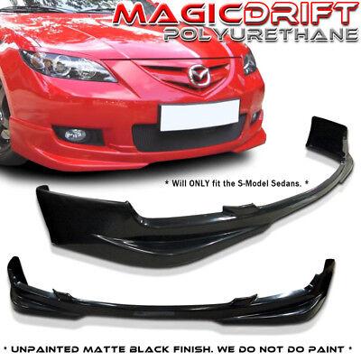07 08 09 Mazda 3 Mazda3 4DR Sedan Sport Poly Urethane Front Bumper Lip (Mazda 3 Sport Sedan)