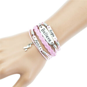 Mix Infinity Anchor Fatima Owl Love Heart Dream Believe Bracelet Friendship Gift
