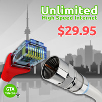 Unlimited Internet From 39.95$, Free Installation, Free Modem