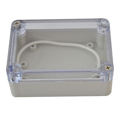 Waterproof Clear Electronic Project Box Enclosure Plastic Cover Case 835833mm