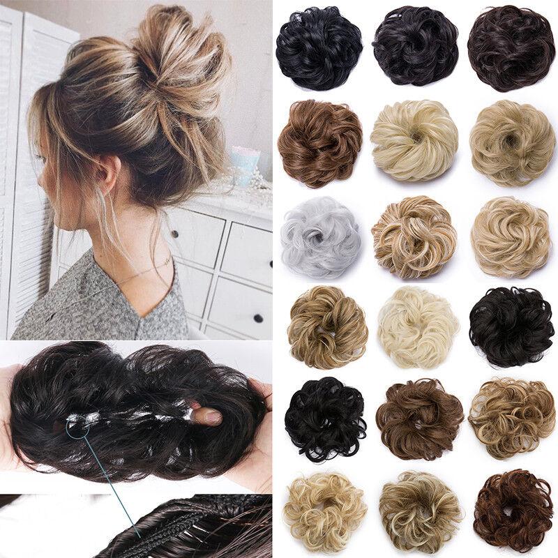 Scrunchie Haargummi Haarteil Natürliche Haarband Zopfgummi Haarverlängerung Dutt