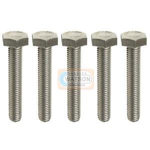 LOT-5-M10x50-hexagonal-Set-Vis-filete-zinc-Tete-Boulon-BZP-Fixation-10mm
