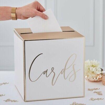 Gold Card Holder Wedding Post Box