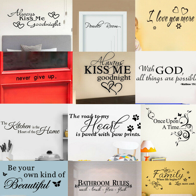 Bathroom Rules Art Wall Stickers Vinyl Removable Decals Mura