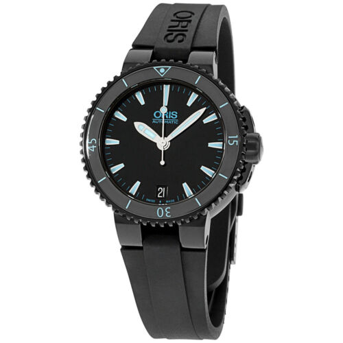 Oris Aquis Black Dial Silicone Strap Men'S Watch 73376524725Rs - watch picture 1