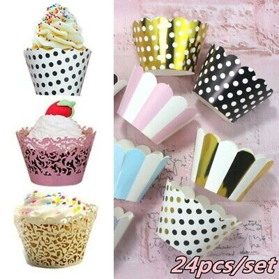 Cupcake Liners Wedding (24pcs Cupcake Wrappers Cake Paper Cup Liners Wedding Birthday Party)