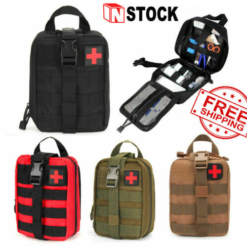NEW FIRST AID KIT TACTICAL MEDICAL TACTICAL SURVIVAL KIT MOLLE EMT POUCH BAG IFAK US