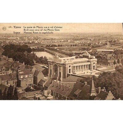 Ieper / Ypres - La porte de Menin vue à vol d'oiseau.