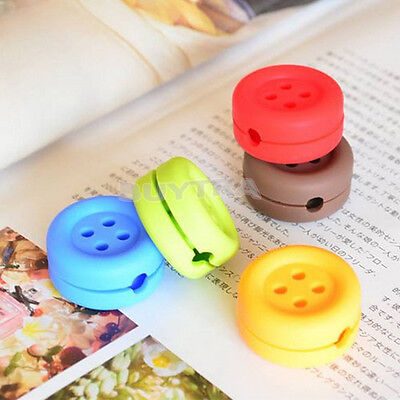 Button Cable Cord Wire Organizer Bobbin Winder Wrap For Headphone Earphone G$CA