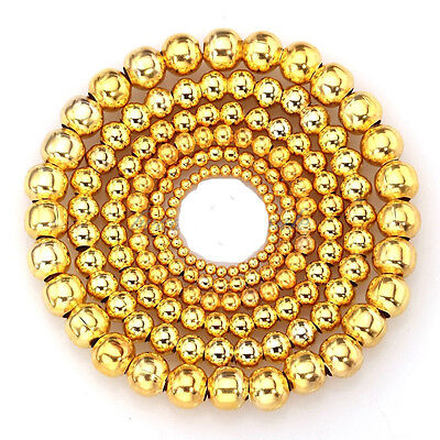 Wholesale 250pcs 4mm Gold Plated Round Spacer Smooth Beads Charms Findings
