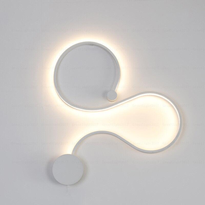Creative Acrylic Curve Light Snake Led Lamp Nordic Led