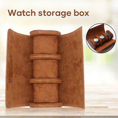 Watch Roll Display Box Leather Travel Case Wrist Watches 1-3 Slot Storage Pouch