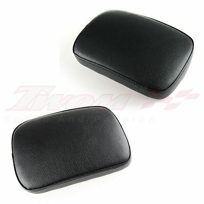Pillion Passenger Rectangle Seat 6 Suction Cup For Harley Softail Dyna Sportster