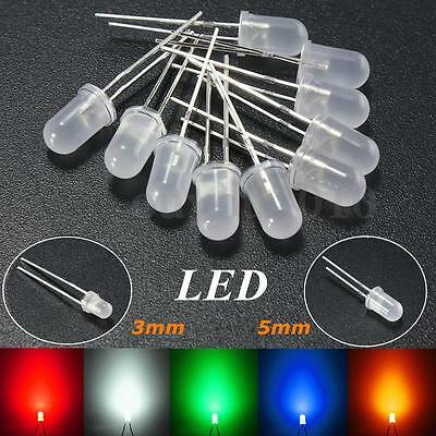 3mm5mm Round Top Milky Diffused Led Emitter Diodes Redgreenblueyellowwhite