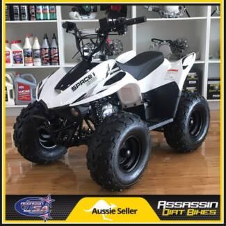NEW Assassin Space Kids ATV 110cc QUAD Dirt Pit Bike Gokart 4 Whe