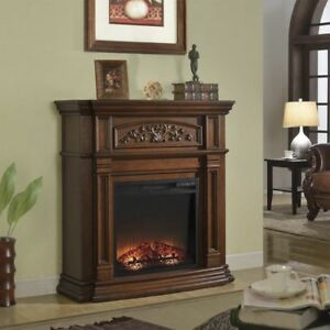 McLeland Design Media Fireplace Mantel, New