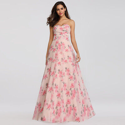 Ever-Pretty US Elegant Long Floral Sleeveless Evening Homecoming Dresses 07237