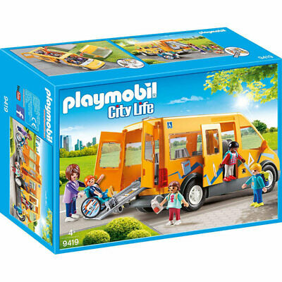 PLAYMOBIL School Van with Folding Ramp - City Life 9419