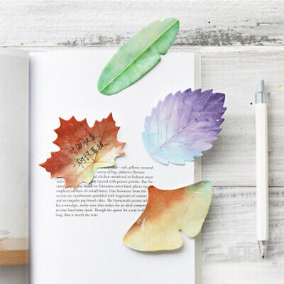 Sticky Note Simulated Natural Plant Leaf Self-sticky Notes 30 Sheetspad