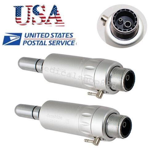 2x USA 2 Hole Dental dentist Low Speed Handpiece E-type Air Motor