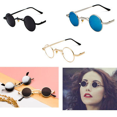 Men Women Steampunk Sunglasses Metal Retro Mini Cool Small Punk Plain Glasses