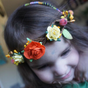 Rustic floral crowns, one size fits all