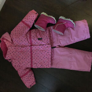 Girls Winter Snowsuit and Boots