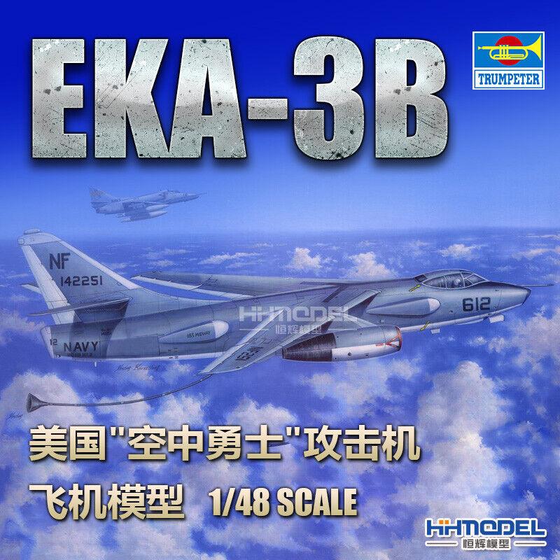 """Trumpeter 02872 1/48 US EKA-3B """"Air Warrior"""" attack aircraft Aircraft"""