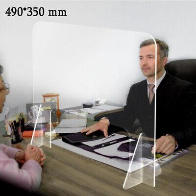 Glasklar Schreibtisch-Trennwand Glasklar Plexiglas Schutzwandsichern Spuckschutz