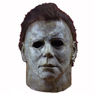Neu Deluxe Michael Myers Maske Cosplay Halloween Party Latex Erwachsene  Maske Deluxe Latex Maske