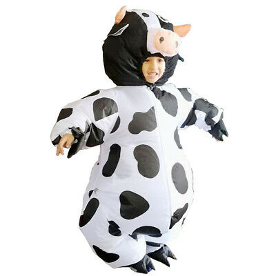Kids Cow Inflatable Costume Cattle Inflatable Carnival Halloween For 90 to 135cm (Cow Costume For Kids)